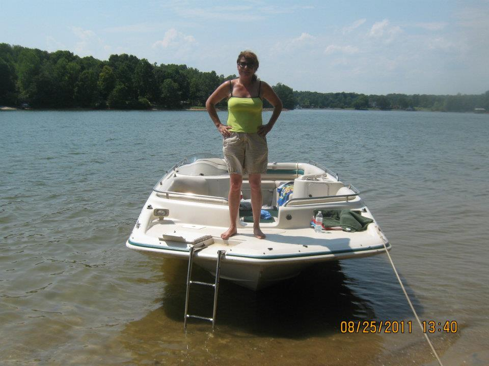 Edna Jamieson boat ride on Smith Mountain Lake Virginia
