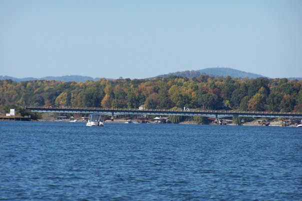 Hales Ford Bridge over Smith Mountain Lake Virginia by Edna Jamieson